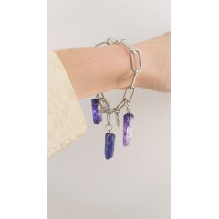 Blue Quartz Crystal Bracelet